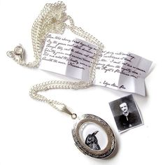 Edgar Allan Poe Locket Pendant Necklace by The Mymble's Daughter
