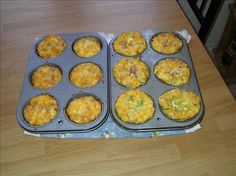 Mini Made to Order Omelet Cups from Food.com:   This recipe comes from our local paper.  I love to make these for my kids or for a brunch.  Baked in individual muffin cups so everyone can get the mix ins that they like and none that they don't.
