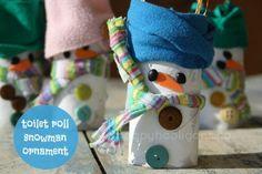 Happy Hooligans - Cardboard Roll Snowman Cratt