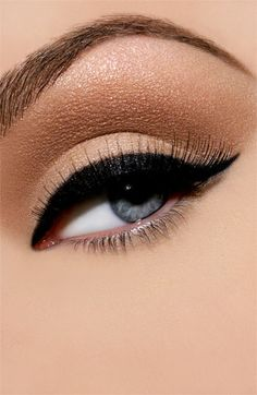 shimmering eyes - love this look