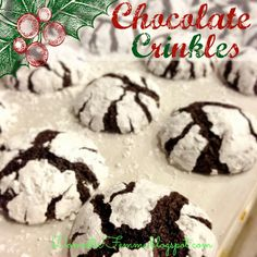 Cookie Perfection: Chocolate Crinkles #Cookies #Dark #Recipe #Recipes #Swap #Swaps #Exchange #Exchanges #Brownie #Brownies #Devil #Devils #Food #Christmas #Thanksgiving #Baking #Holiday #Holidays #From #Scratch #With #Thin #ThinMint #ThinMints #Mint #Mints #Cocoa #Peppermint #Party #Parties #Ideas #For #Kids #Kid #Friendly #Cracked #Crackle #Crackles #Fudge #Bunco #Bunko