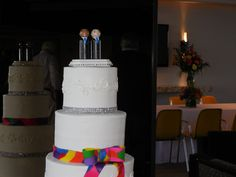 Two grooms wedding cake