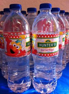 Elmo themed Water Bottle Labels.  If your little one loves Sesame Street