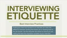 Interviewing Etiquette Infographic -  Pinned by @PediaStaff – Please Visit http://ht.ly/63sNt for all our pediatric therapy pins
