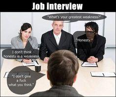 Honesty in a job interview...