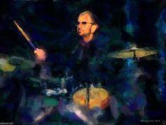 paper art, drummer, watercolor paper, art print