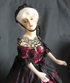 Antique German Plaster of Paris Half Doll Stunning | eBay
