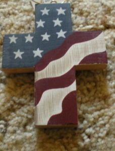 """""""Flag on Cross"""", Patriotic & 4th of July Crafts"""