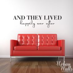 Vinyl Wall Decal Sticker Art, Happily Ever After. $35.00, via Etsy.