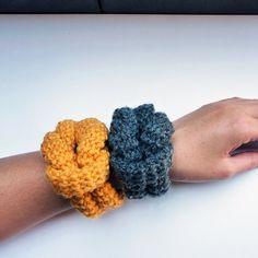 Crocheted bracelet.