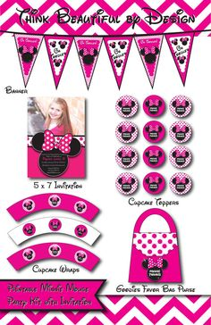 INSTANT DOWNLOAD Pink Minnie Mouse by THiNKBEAUTiLBYDESiGN on Etsy