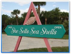 And this sign means Sanibel.