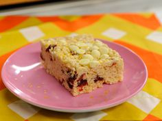 White Chocolate and Cranberry Crispy Rice Squares Recipe : Katie Lee : Food Network - FoodNetwork.com