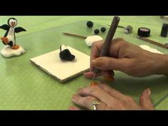 Polymer Clay Tutorial - How to make a Penguin Figurine