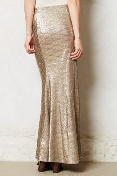 ready for a party at the drop of a hat. Sirene Sequin Skirt - #anthropologie