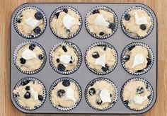 Blueberry Cream Cheese Muffins.
