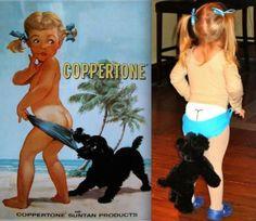 Coppertone Costume
