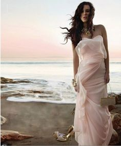 sheer blush gown <3