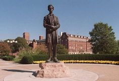 The Abraham Lincoln statue in Lytle Park.
