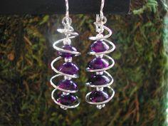 Swirling spiral earrings.