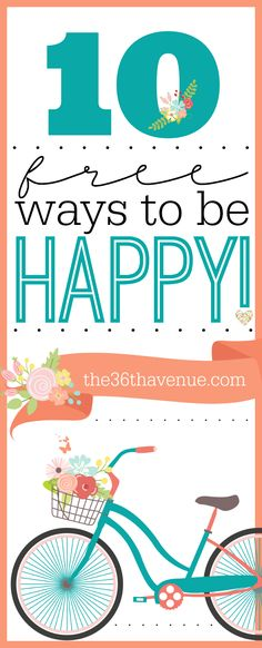 10 Free Ways to Be Happy!!! so so so good, please do yourself the favor of reading it, you'll feel so good afterwards
