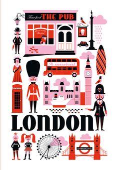 London, UK - Travel Poster