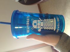 """Dalek """"Rehydrate! You will obey!"""" Doctor Who tumbler cup with lid and straw. $10.50, via Etsy."""