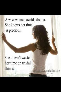Wise woman...