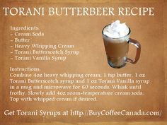 All muggles secretly wish Harry Potter was real. Well, we may not have leaping chocolate frogs, but we can enjoy a Butter Beer! // Made with Torani