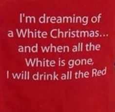 White Christmas wine