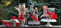 holiday packaging ideas using tin containers and chalkboard paint
