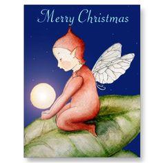 Merry Christmas Elf Postcard by SimonaMereuArt $1.05