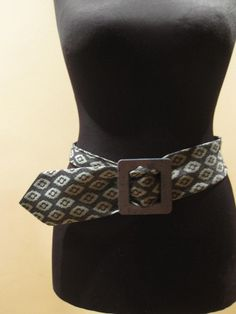 Cute belt made from a man's neck tie