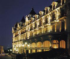 Hotel de Paris in the evening, Monaco