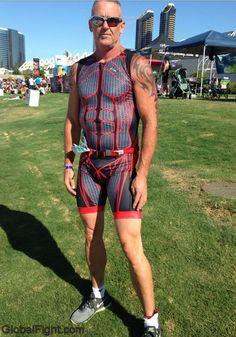 body suit spandex man jogging