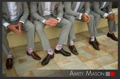 All business on the top and all pastel argyle socks on the bottom! Who says the groomsmen can't have some fun