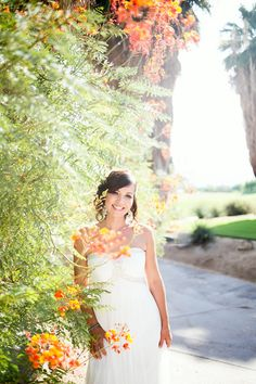 Real Wedding ♥ Jamie and Phil ♥ Outdoor ceremony #golfcoursewedding #outdoorwedding #outdoorceremony #desertwedding #californiawedding #palmspringswedding #palmdesertwedding #southerncaliforniawedding #bride