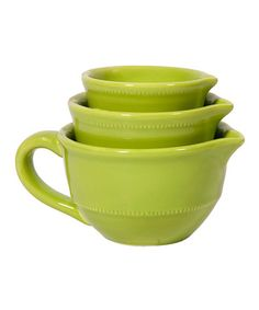Take a look at this Lime Mini Mixing Bowl Set by Home Essentials and Beyond on #zulily today!
