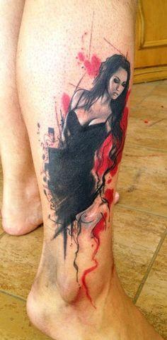 Realistic Girl sketch tattoo - Tattoosgallaries