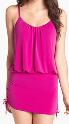 cute #magenta two-piece swimsuit  http://rstyle.me/n/iz7drpdpe mode féminin, style board, summer time