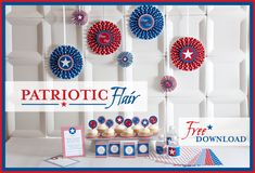 4th of July Printables. Food cards
