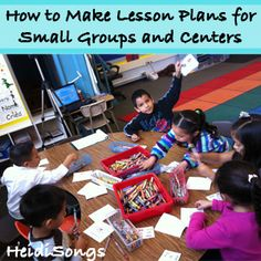 How to Make Lesson Plans for Small Groups and Centers in #Kindergarten  #ece