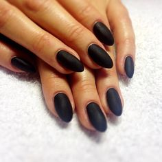 Matte black short stiletto nails | I miss my almonds. Need to get some like this for next time