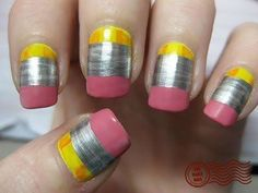 Before you head back to school, pencil in time to paint these pencil nails.