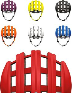 Seven different colours - the Foldable Helmet by Carrera
