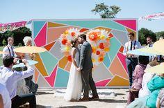 Brides: Wedding Style Inspiration: 5 Creative Ceremony Backdrops