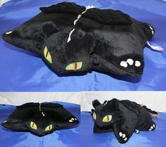 Toothless pillow plush