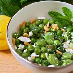 English Pea, Fava Bean & Mint Salad