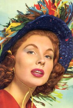 Suzy Parker and hat, 1950s