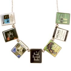Banned Book Necklace